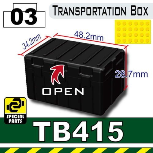 TB415/03 Black Transportation Box by Sidan Toys. Preowned.