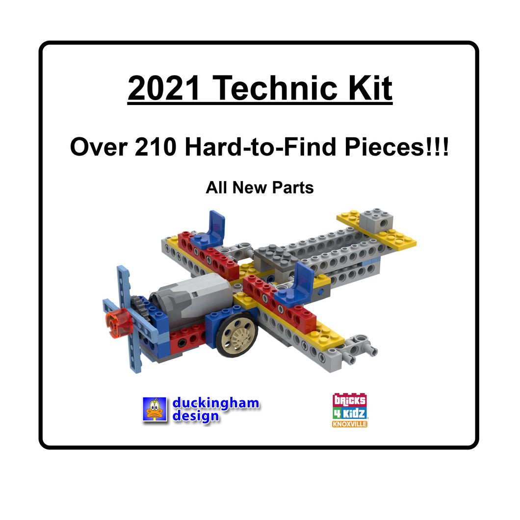 2021 Technic Kit. Over 210 Hard-to-Find Pieces! All New Parts.