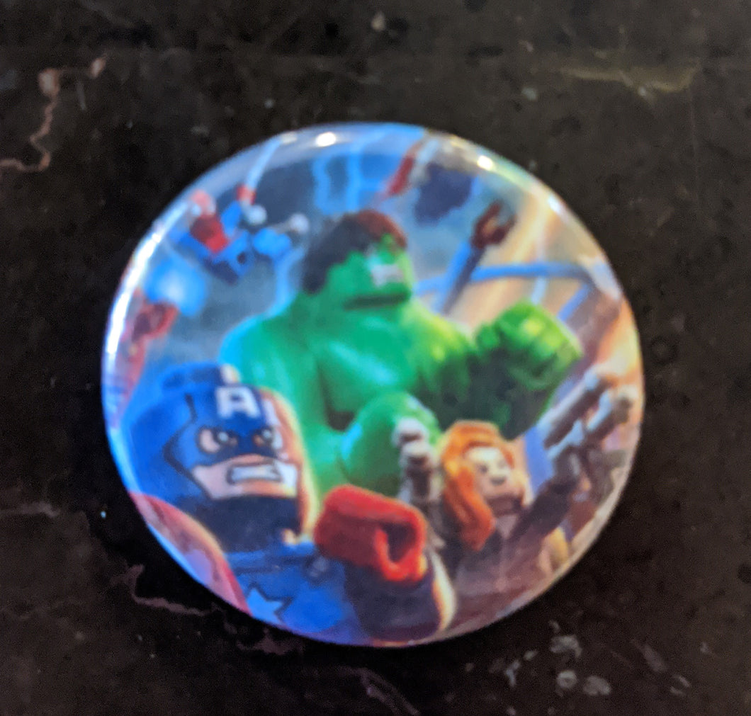 Button/Pin: The Avengers Button/Pin. New.