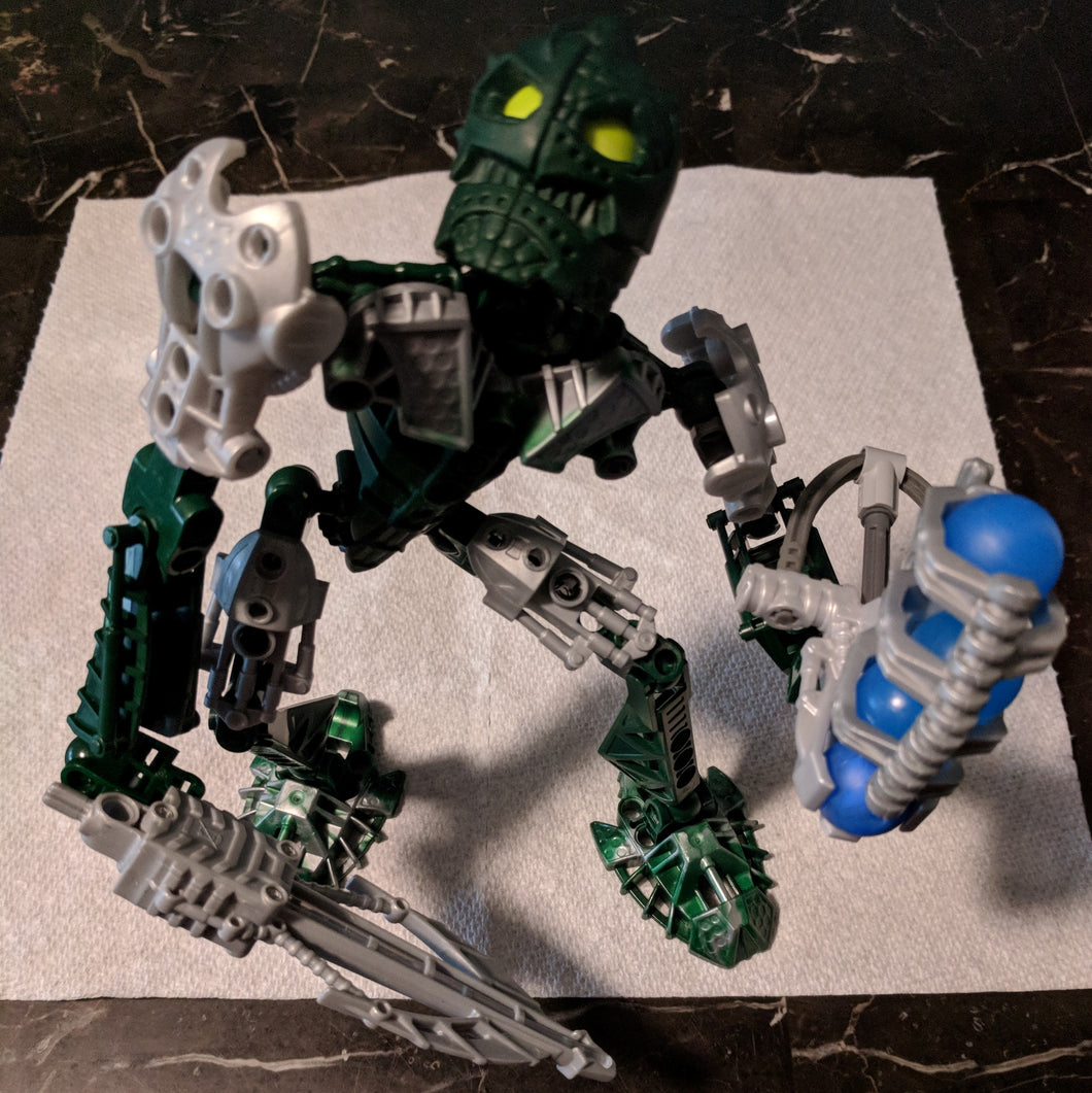 LEGO Bionicle Inika Toa Kongu 8731-1 (Modified) 2006. 46 pcs.