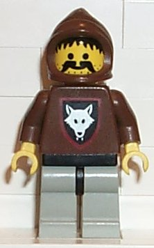 Castle Wolfpack minifigure: cas072 Wolf People with accessories. Preowned.