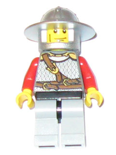 LEGO Castle: Kingdoms minifigures: cas447 Lion Knight scale mail, vertical cheek lines. 2010. Preowned.