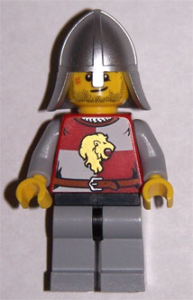 LEGO Castle: Kingdoms minifigure: cas497 Lion Knight Quarters, Helmet with Neck protector. 2011. Preowned.