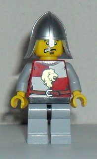 LEGO Castle: Kingdoms minifigure: cas502 Lion Knight Quarters, Helmet with Neck protector. 2012/13. Preowned.