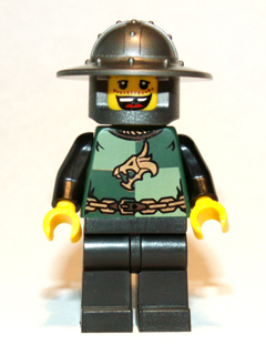 LEGO Castle minifigure: cas508 Kingdoms - Dragon Knight Quarters, Helmet with Broad Brim, Missing Tooth (Chess Pawn). 2012. Preowned.