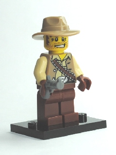 Collectible Minifigures: Series 1: col01-16 Cowboy. 2010. Preowned.