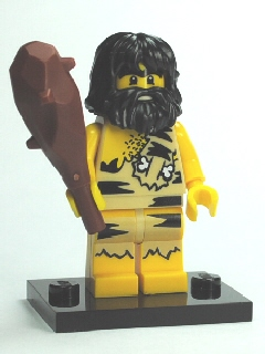 LEGO Collectible Minifigures: Series 1: col01-3 Caveman, Series 1. 2010. Preowned.