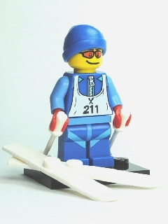 LEGO Collectible Minifigures: col02-12 Skier series 2. 2010. Preowned.