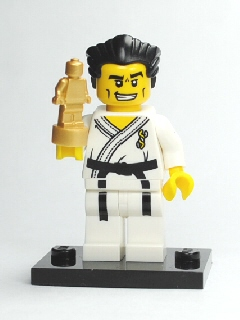 LEGO Collectible Minifigures: Series 2: col02-14 Karate Master, Series 2. 2010. Preowned.