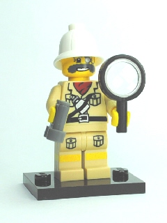 LEGO Collectible minifig: col02-7 Explorer, Series 2. 2010.