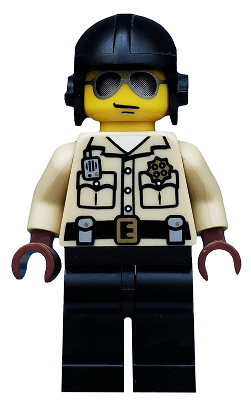 Collectible Minifigure: col022 Traffic Cop. Includes stand and handcuffs. Series 2. 2010. Preowned.