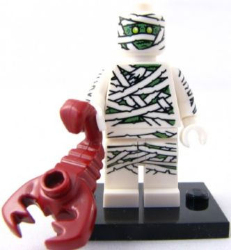 LEGO Collectible Minifigs: col03-8 Mummy, Series 3 (Complete Set with Stand and Accessories). 2011. Preowned.