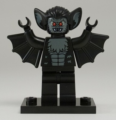 LEGO Collectible Minifigure: col08-11 Vampire Bat, Series 8. 2012. Includes stand. Preowned.