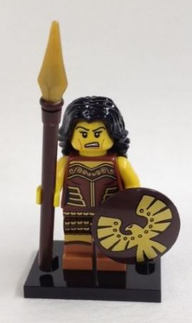 LEGO Collectible minifigures: col10-4 Warrior Woman, Series 10. 2013. Preowned.