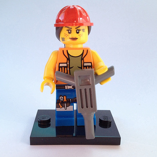 LEGO Collectible Minifig, The LEGO Movie : coltlm009 Gail the Construction Worker.