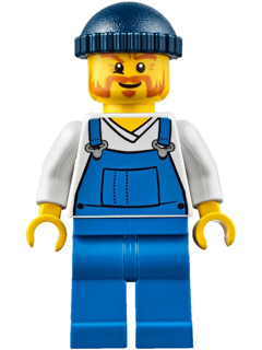 LEGO Minifigs: City: Fire: cty0648 Fire Lighthouse Keeper. 2016. Preowned.
