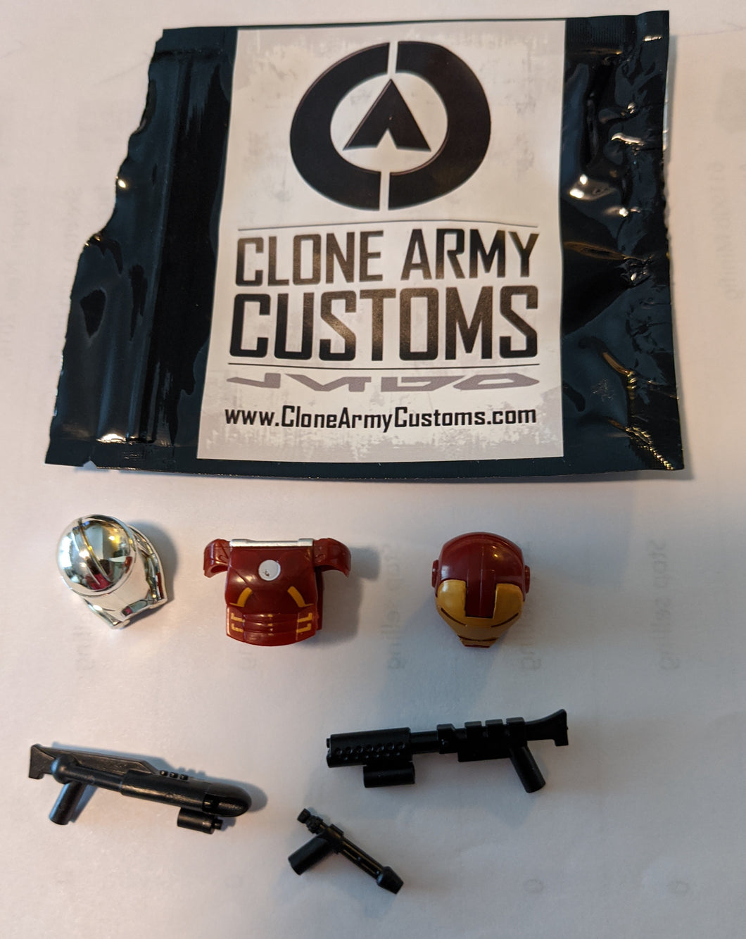 Clone Army Customs minifig parts. Original package, opened. New.