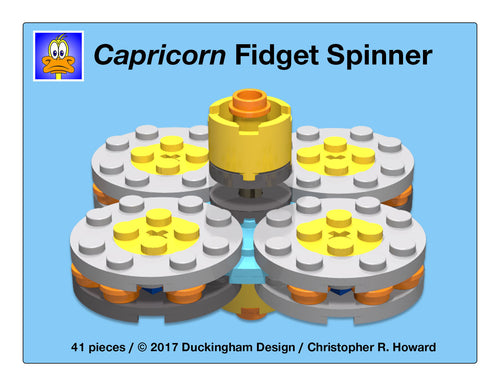 Capricorn LEGO Fidget Spinner (Custom Design)