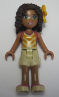 LEGO Friends minfigure: frnd152 Friends Andrea and helmet. 2016.