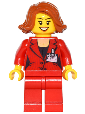 LEGO Minifigs: game011 Press woman/Reporter. 2016. New.