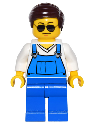 LEGO Minifigs: game016 Overalls Blue. 2016. New.
