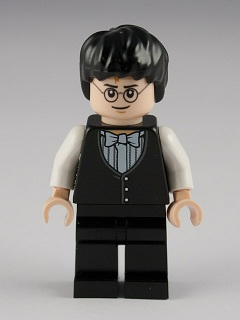 LEGO Minifig, Harry Potter: Goblet of Fire: hp125 Harry Potter, Yule Ball Vest & Bowtie. 2011. Preowned.