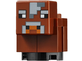 Minecraft: minecow03  Cow, baby-brick built. Reddish brown.