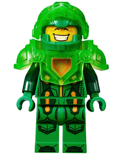 LEGO Nexo Knights minifigure: nex021 Ultimate Aaron. 2016, Preowned.