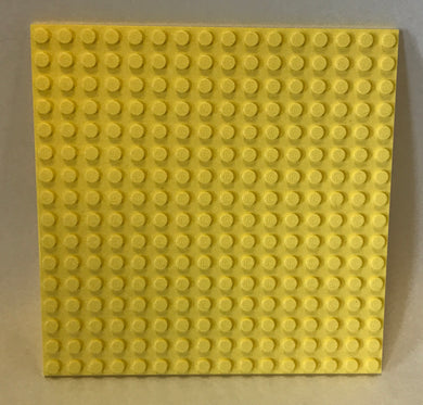 LEGO 16 x 16 Plate | Bright Light Yellow