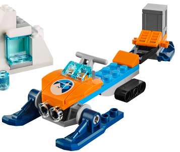 LEGO City: Arctic: Snowmobile with detachable snow trailer. New.