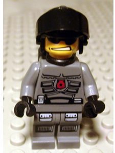 LEGO Space Police 3 Minifig: sp095 Officer 2 - Airtanks. 2009. Preowned.