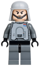 LEGO Star Wars Episode 4/5/6 minifigure: sw0426 Imperial Ofiicer with Battle Armor- chin strap. 2012. Preowned.