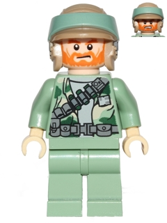 LEGO Star Wars Minifigure: sw0511 Endor Rebel Commando-Beard & Angry Dual Sided head. 2013. Preowned.