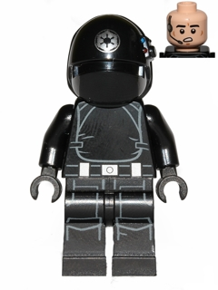 LEGO Star Wars: sw0520 Imperial Gunner-open mouth, silver logo. 2014. Preowned.
