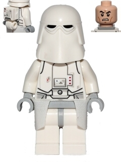 Star Wars Episode 4/5/6 minifigure: sw0568 Snowtrooper, Light bluish gray hips & hands. 2014-17. Preowned.