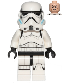 Star Wars Rebels minifigure: sw0578 Stormtrooper, Printed Legs. 2014-16. Dark azure helmet vents.Preowned.