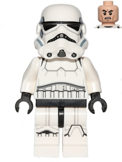 Star Wars minifigure: sw0585 Stormtrooper, Printed Legs. 2014-18. Dark blue helmet vents.Preowned.