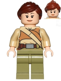 LEGO Star Wars minifigure: sw0668 Resistance Soldier, Female. 2015. Preowned.
