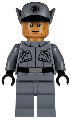 LEGO Star Wars  minifigure: sw0670 First Officer (Lieutenant/Captain), male. 2015. Preowned.