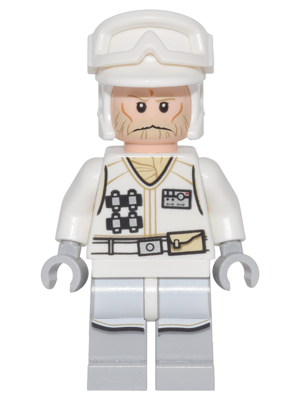 Star Wars Episode 4/5/6 minifigure: sw0765 Hoth Rebel Trooper, white uniform, tan beard. 2016. Preowned.