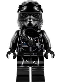 Star Wars Episode 8 minifig: sw0902 First Oder TIE Pilot, white lines on helmet. 2018. Preowned.