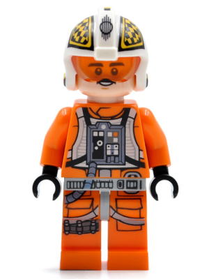 LEGO Star Wars Episode 4/5/6 minifigure: sw0944: Biggs Darklighter (Dual Molded Helmet) 2018. Preowned.
