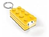 LEGO Key Chain: UC21179 LED Key Light 2 X 4 Brick Key Chain. Various colors. 2010. Preowned.