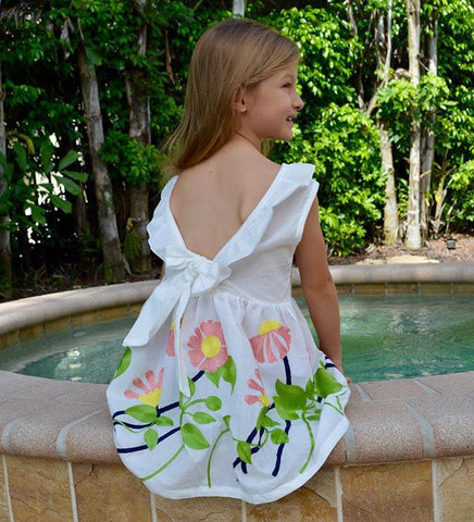 TRISTEN Embroidered Ruffles BowKnot Dress -  Dress - The Tot Drawer