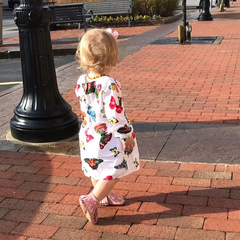 GARCIA Long Sleeve Butterfly Tunic Dress -  Dress - The Tot Drawer