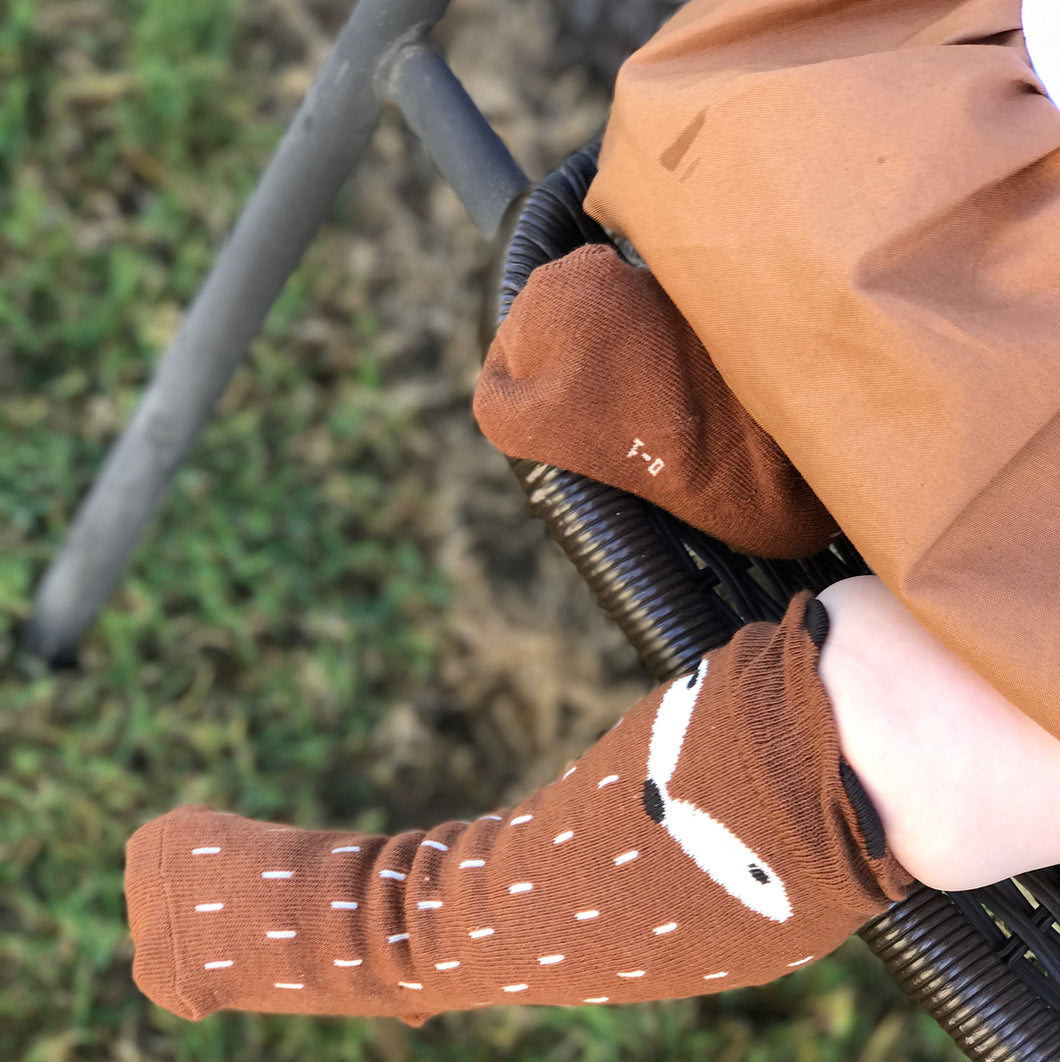 HUNTER Foxy High Knee Socks Brown
