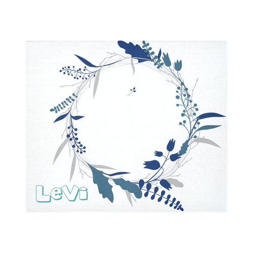 Customized Baby Development Blanket - Blue Wreath