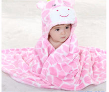 AVERY Animal Hooded Bathrobe Pink Bear -  Swimwear - The Tot Drawer