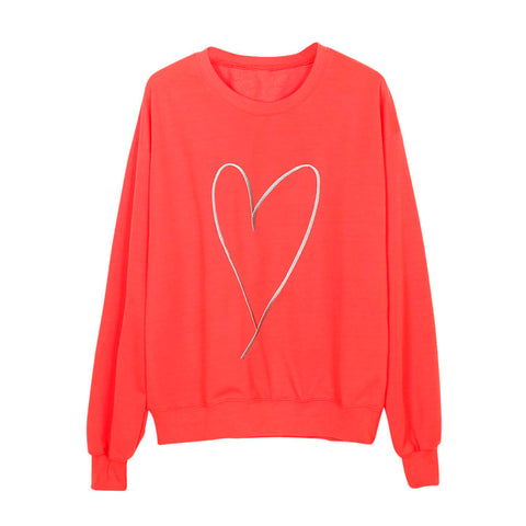 LUV Heart Mother and Kids Matching Pullover Sweater Top (1pc)