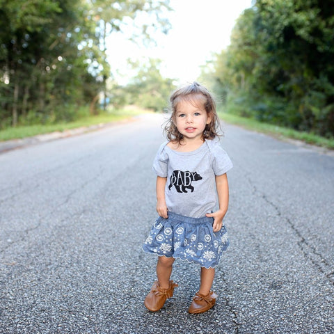 Mama Bear T-Shirt and Baby Bear Bodysuit Grey (1pc)